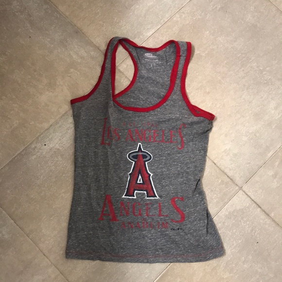 Majestic Tops - MAJESTIC THREADS Los Angeles Angels Tank Top